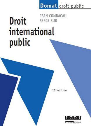 Sujet de dissertation droit international public